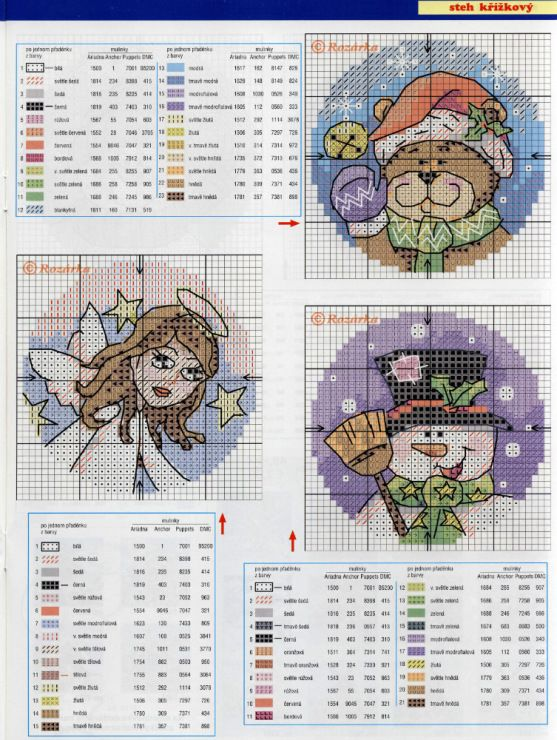 10 Christmas Cross Stitch Ornaments, chart page, page 3/5.