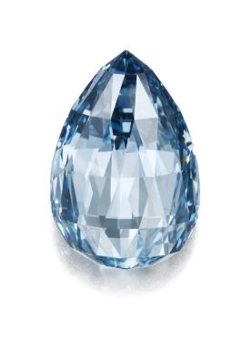 Magnificent and exceptionally rare fancy deep blue briolette diamond of 10.48 carats - Sotheby's 10,274,500 CHF