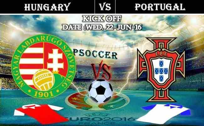 Hungary vs Portugal 22.06.2016 Free Soccer Predictions, head to head, preview, predictions score, predictions under/over EURO Cup 2016 Group Stages