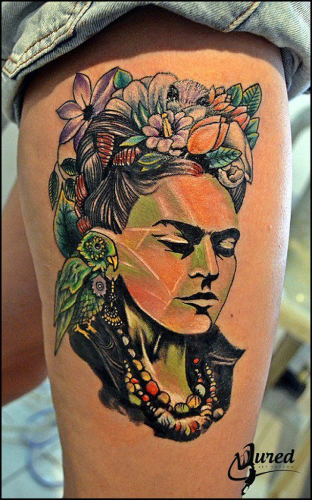 Seleção de tatuagens inspiradas em Frida Kahlo   Estilo