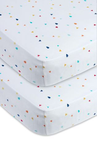 Buy 2 Pack Little Zoo Jersey Sheet Set online today at Next: United States of America