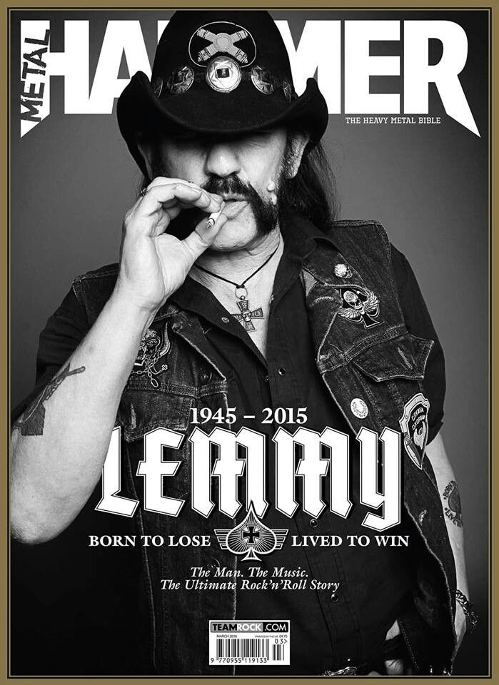 """Lemmy's passing has left a void in the hearts of many and befitting that Metal Hammer's March 2016 has bee dubbed """"The Lemmy Tribute"""" issue. #RIPLemmy"""