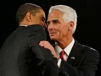 Charlie Crist, formerly the Republican governor of Florida, became President Obama's biggest booster and switched parties. Now, as a Democrat, he says his switch had its genesis in his belief that Republicans are against Obama because they are racists. Barf Charlie! Wasn't the KKK started by Dems?