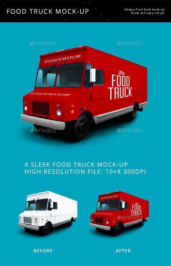 Food Truck Mock Up Food Truck Mockup Mockup Design