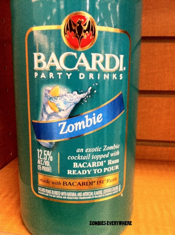 Bacardi Zombie Party Drink - for halloween out on the driveway!