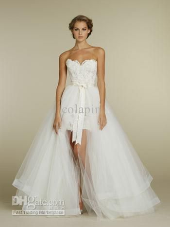 Convertible Wedding Dress ♥ Removable Skirt--This is my (someday) wedding dress!!! #WantWantWant