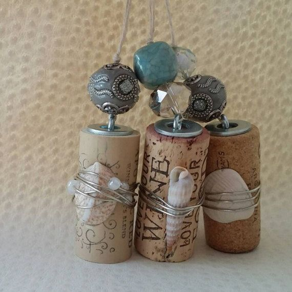 Holiday Wine Cork Ornaments Wine Corks by InspirationsbyJG on Etsy
