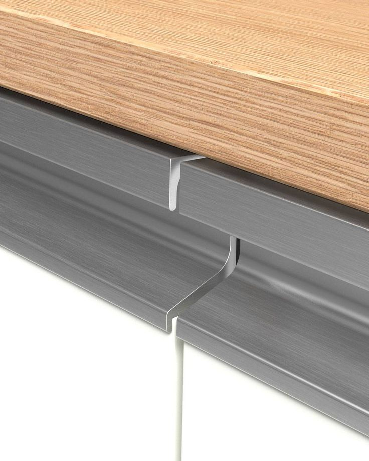 Edge let-in Handle UKW-7 C-30S A handle UKW-7 is placed covering the entire length of the doors and drawers of the kitchen. Its straight line, allows it to adapt to all modern constructions of kitchen furniture, wardrobes, bathroom furniture, etc. During the whole process of planning the whole series, maximum attention was given to the finishing details so that it has a direct influence on the aesthetics of the furniture.
