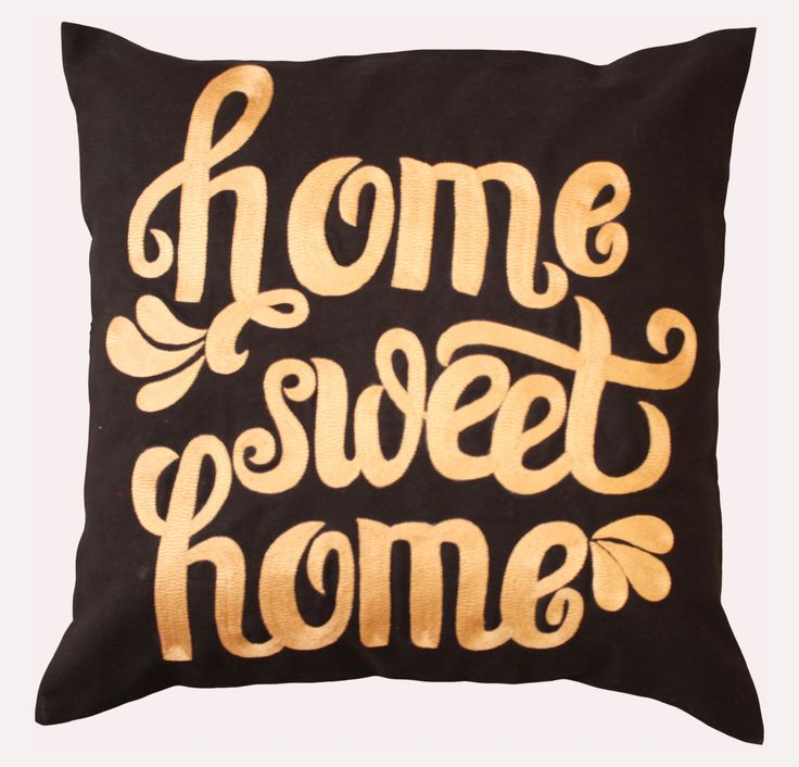 "Add a homely touch to your decor with the ""Home Sweet Home"" cushion cover. It is hand crafted with rich Indian Zari art. This cushion cover is ideal for both the bedroom and living room. In fact, it makes a lovely gift for friends as well. DESI KALAKAAR is one stop centre of India's Arts and Handicrafts. As our country has very rich and diverse culture, We aim to bring you superior quality products. Our designs are creations of professional artists and are perfect fusion of modern and…"