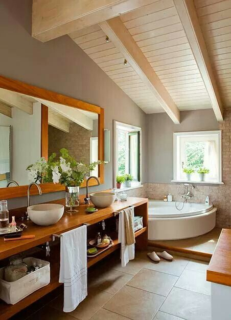 small bathroom remodeling guide 30 pics koupelna d evo k men bathroom wood stone pinterest. Black Bedroom Furniture Sets. Home Design Ideas