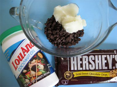 Make-at-home quick-hardening chocolate coating (since apparently the owners of the Brand Name objected to the use of it to describe this  )