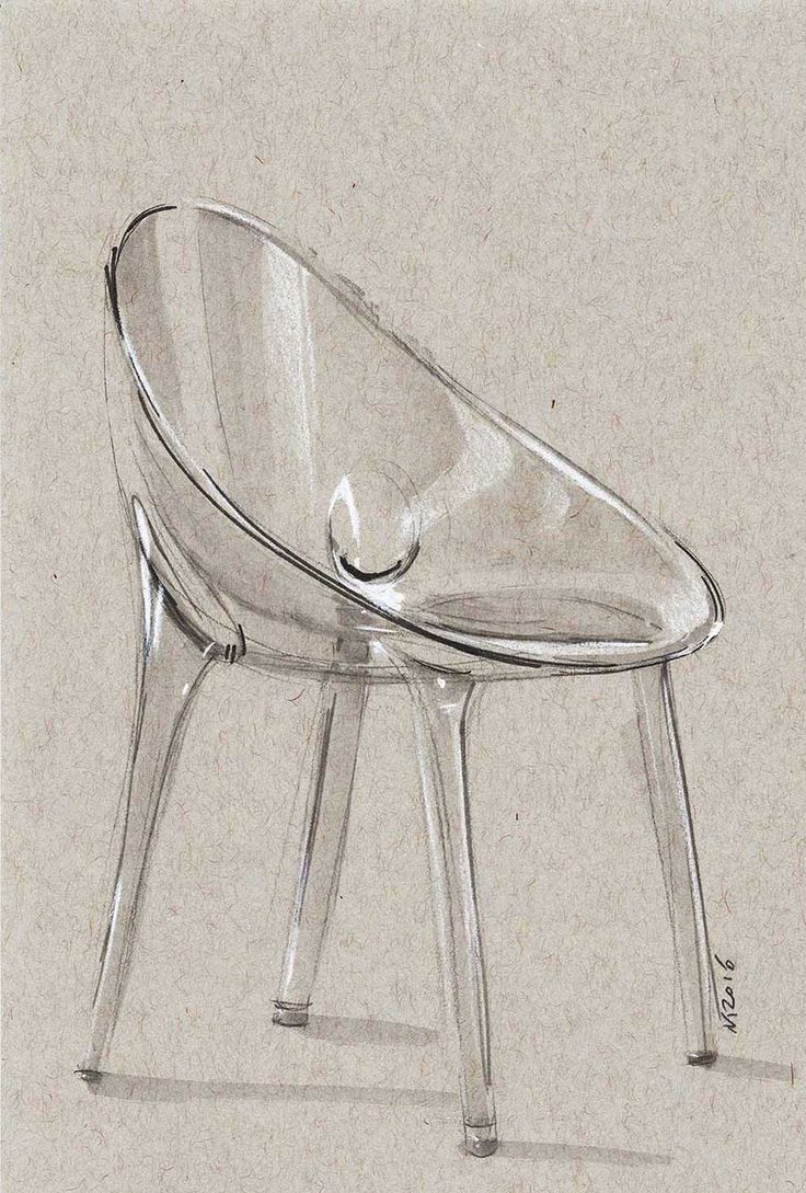 Industrial design sketches furniture - Chair Sketch Another Trancparency Exercise Took Around 30min This Time Starck
