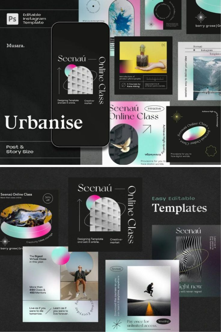 Urbanise - Gradient Instagram Pack