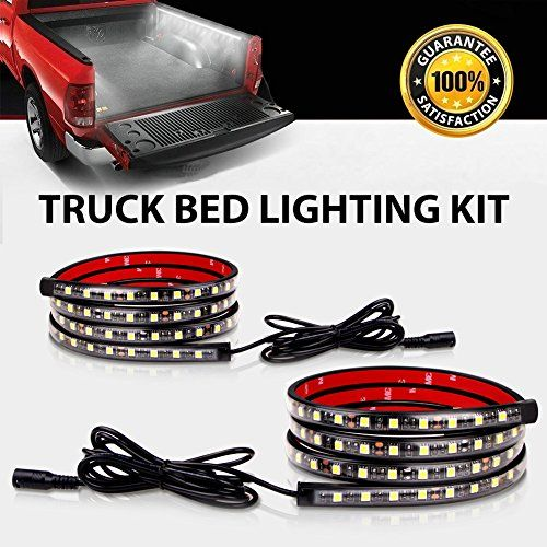Truck Bed Rail Lights Derlson Truck Bed Lighting Kit Led Strip Lights With On Off Switch And Fuse For Trucks Trailers Pickups Rvs Vans And Cargos 2x60inch Ip67 Waterproof Circuit Protection In 2020