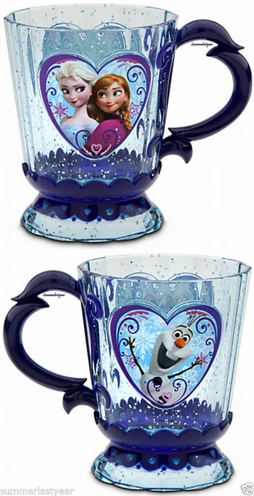 "ANNA, ELSA, AND OLAF ""FROZEN"" CUP, MUG, DRINKWARE-DISNEY STORE-"