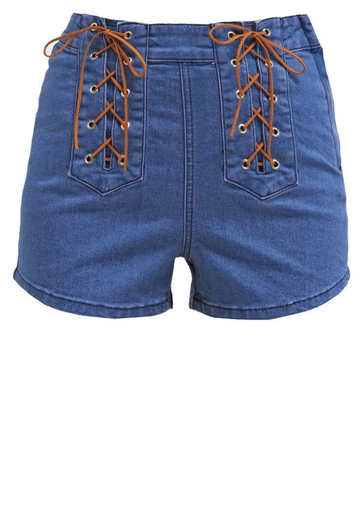 Somedays Lovin JERRY Szorty jeansowe indigo