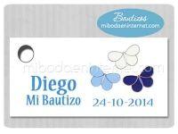 BA143T Etiqueta Detalle Bautizo