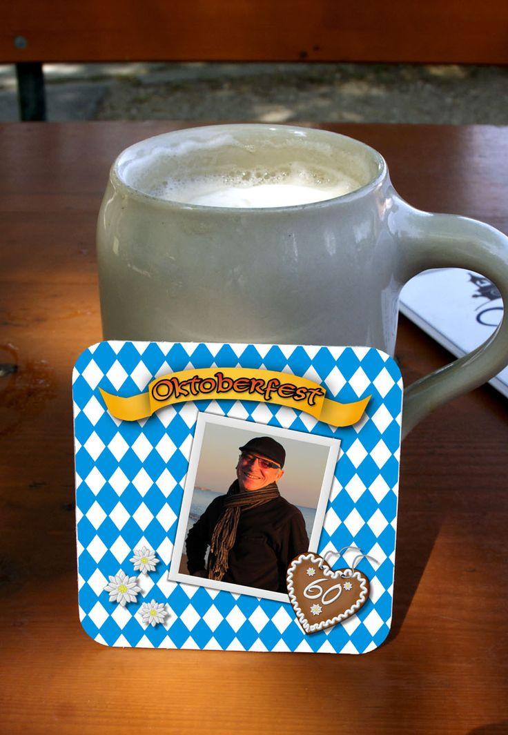 Personalisierte #Bierdeckel für das #Oktoberfest oder die #Wiesn-Party  #Untersetzer #Coaster #PixelKiste #PixelKisteKartendesign #drucken #bedrucken #personalisiert