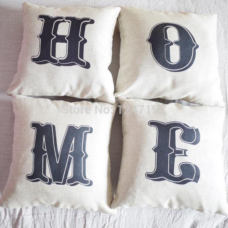 H-o-m-e черный белый стиль чехол подушки бухты cutton белье просто диван наволочки главная декоративные