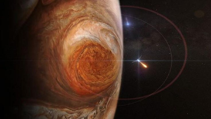 NASA Juno: probe will fly over the Great Red Spot of Jupiter. NASA Juno: probe will fly over the Great Red Spot of Jupiter.  The mysterious Great Red Spot of Jupiter is probably the most well-known feature of Juno's main Jupiter. This monumental storm has ravaged the largest planet in the solar system for centuries. . Now, Juno and his insightful scientific instruments will plunge to see how deep the roots of this storm will be and will help us understand how this gigantic storm works…