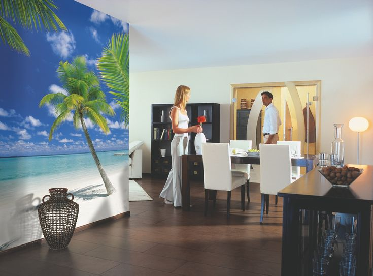 Sunny And Full Of Life This Is The Perfect Beach Getaway For Every Day. (Wall  Mural