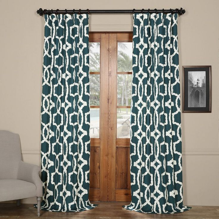 EFF Lyons Printed Curtain, Blue