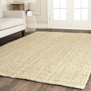 Shop for Safavieh Casual Natural Fiber Hand-loomed Sisal Style Ivory Jute Rug (6' x 9'). Get free shipping at Overstock.com - Your Online Home Decor Outlet Store! Get 5% in rewards with Club O!