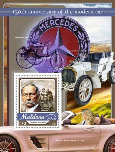 MLD17106b 130th anniversary of the modern car (Carl Benz (1844–1929), Carl Benz and his partner Max Rose)