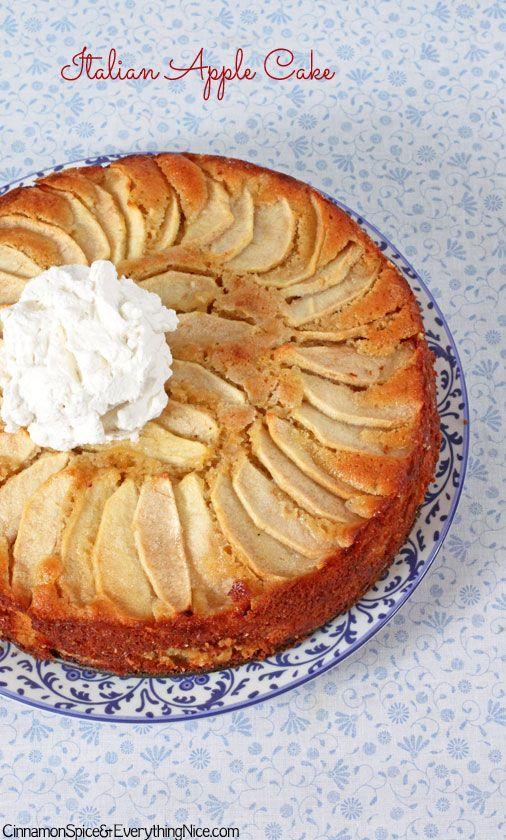 Italian Apple Cake - vanilla and lemon infused apple cake!!