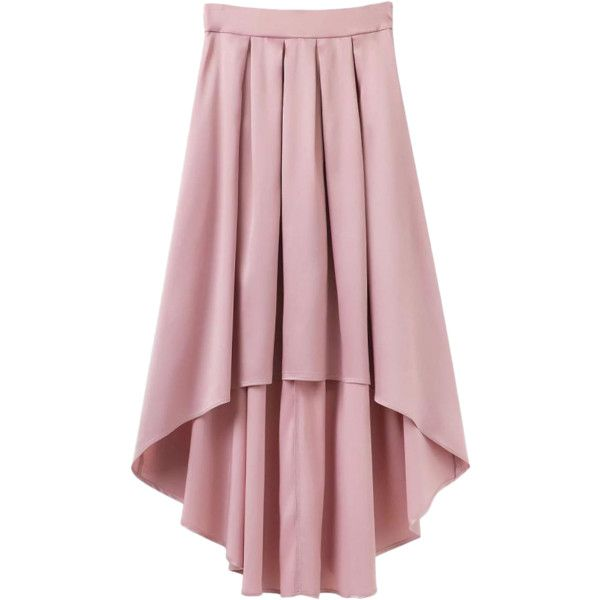 Bowknot Asymmetrical Skirt Light Pink (1.905 RUB) ❤ liked on Polyvore featuring skirts, pink asymmetrical skirt, light pink skirt, pink skirt and asymmetrical skirt