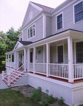 Farmers Porch - Exterior Facade - traditional - exterior - boston - GMT Home Designs Inc.