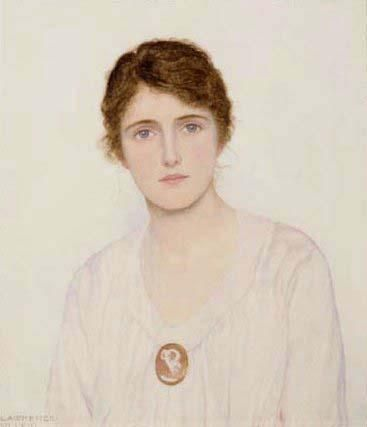 The Cameo Brooch, George Lawrence Bulleid, 1858-1933: Art Gallery, Fun Brooches, Females Red 4 Closed, Soft Colors, Art Females Red 4, 1858 1933 Soft, Artistic Inquiries, Art Portraiture