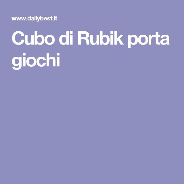 Cubo di Rubik porta giochi