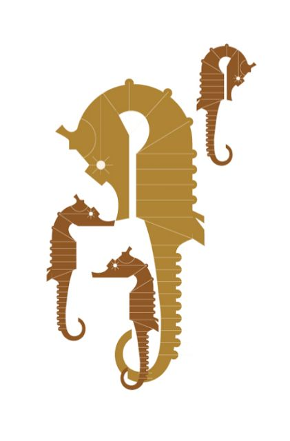 seahorses in linear design
