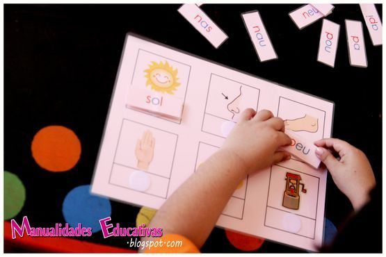 Per practicar lectura tot sols. Enganxar amb velcro cada paraula a la imatge corresponent.   Manualidades Educativas: Serie Rosa Montessori - Tarjeta Grande Rosa