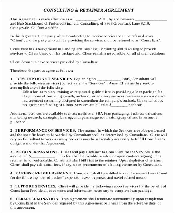 50 Beautiful Consulting Contract Template Free Download In 2020