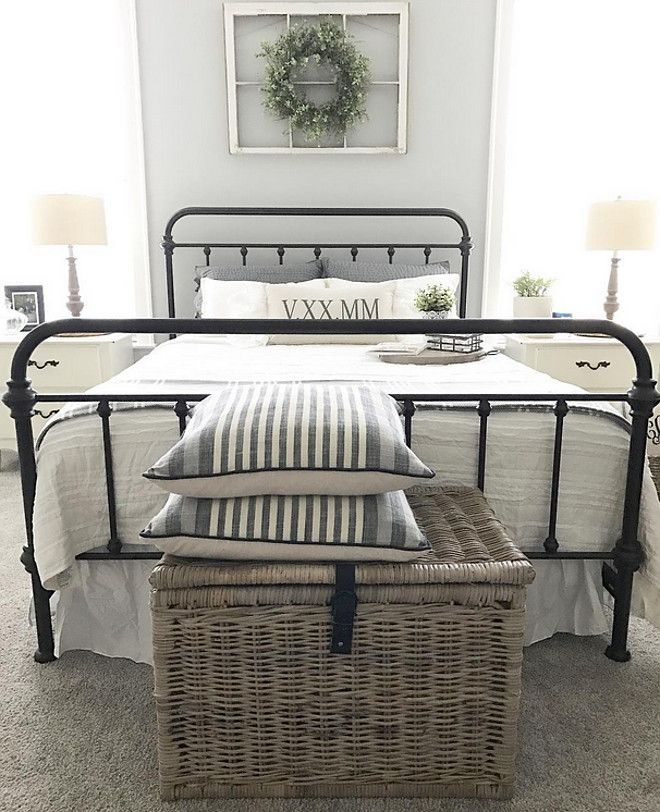 Farmhouse Bed Ideas Is Metal Queen Size Antique Dark