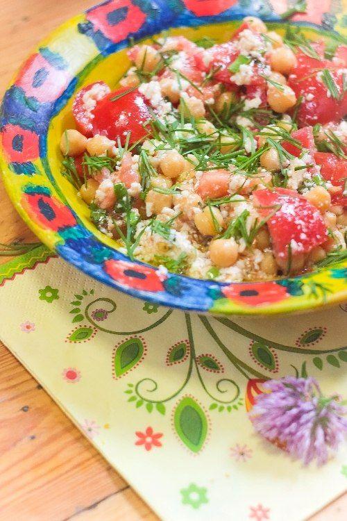 Блог Арины Лисецкой: Всегда готовлю! - Салат с нутом, мятой и мягким адыгейским сыром