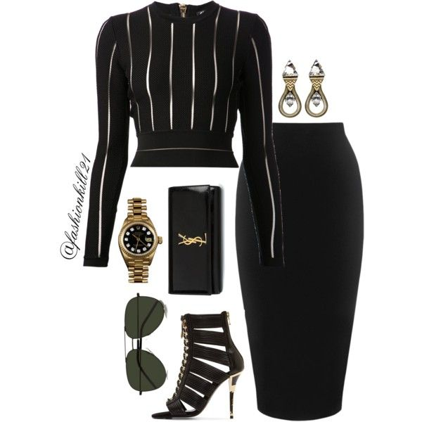A fashion look from February 2016 by fashionkill21 featuring Balmain, Whistles, Yves Saint Laurent, Rolex, Lionette, women's clothing, women, female, woman, mis...