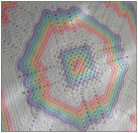 Ravelry: Project Gallery for Crocheted Rainbow Set: Blanket, Jacket and Booties…