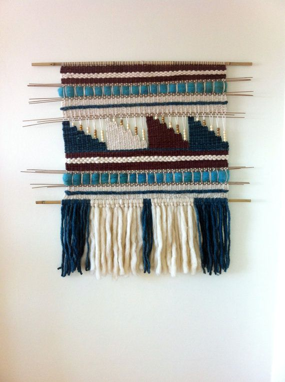 Hand Made Woven wall hanging tapestry by WovenHomeArt on Etsy, $300.00