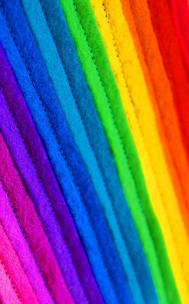 #Rainbow colors ❖de l'arc-en-ciel❖❶ToniK #Colorful #felt strips art