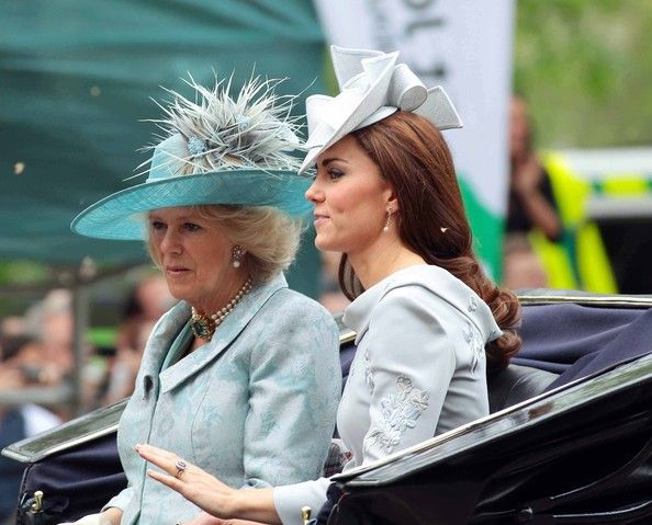 Camilla, Duchess Of Cornwall and Catherine, Duchess of Cambridge, 2012