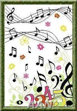 music counted cross stitch
