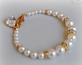 STRASS Swarovski Bracelet Bracelet de mariage par TheRedMagnolia