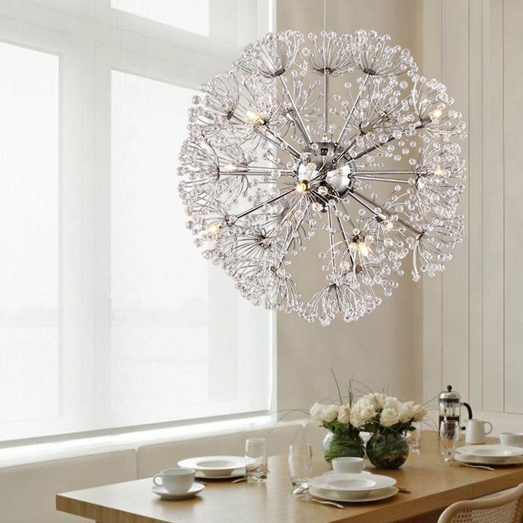 Find More Chandeliers Information About Modern Crystal Lighting Dandelion Pendant Lamp For Kitchen Living Room