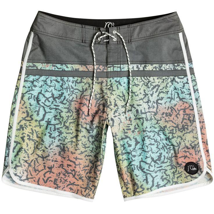 Sale on Quiksilver Stomp Cracked Scallop 20 Men's Boardshorts Sports Wear Shorts - Motorhelmets