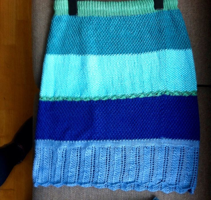 Knitted skirt commissioned by