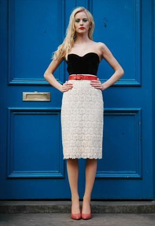 Lace Pencil skirt from Circa Vintage  £55