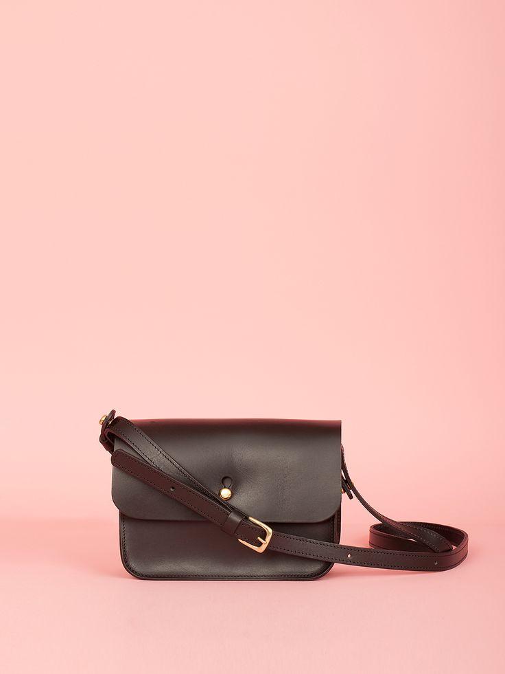 Robin - Black Leather Bag, Mimi Berry SS16